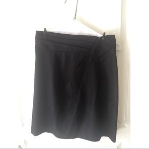 NANETTE LEPORE unique waist black wool skirt 0